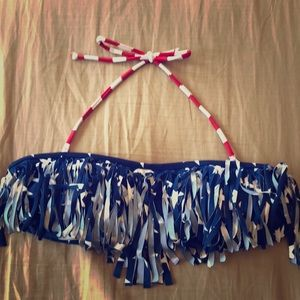 America fringe swim top